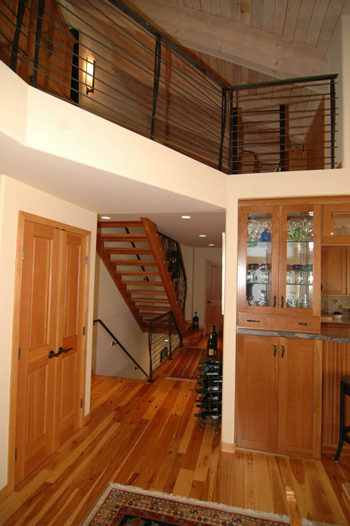 Multi Level Tahoe Home Exhibiting Skilled Carpentry