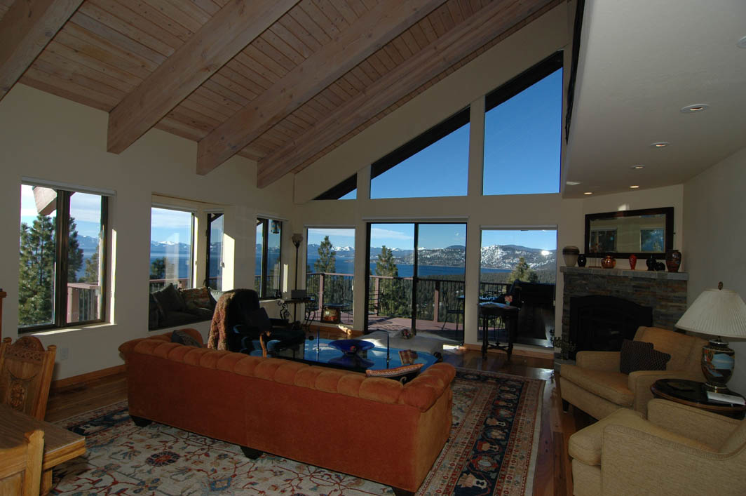Great room with lake tahoe view for Lake tahoe architecture firms