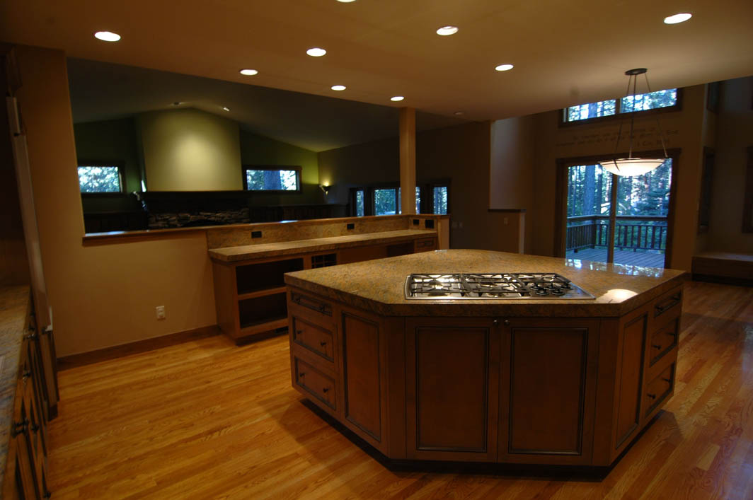 angled kitchen island designs.  Angled Island with Cooktop in Tahoe Kitchen